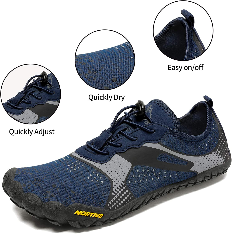 NORTIV 8 Mens Barefoot Water Shoes Lightweight Sports Aqua Shoes
