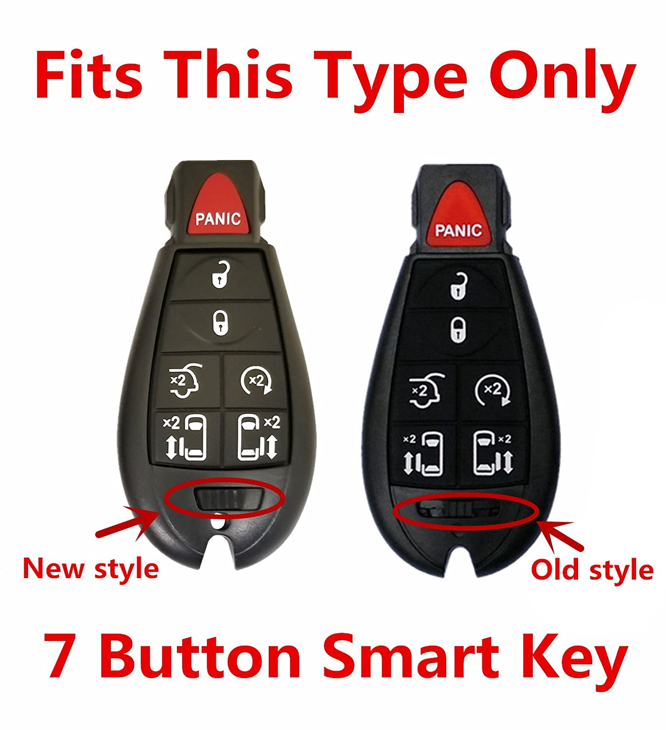 Rpkey Silicone Keyless Entry Remote Control Key Fob Cover Case protector For Chrysler Town /& Country Dodge Grand Caravan Volkswagen Routan M3N5WY783X 2701A-C01C 68043594AA 68043594 AA ASD