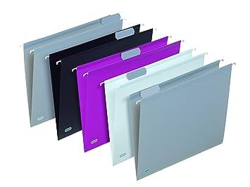 Elba Trendy - Archivadores colgantes para cajonera (5 unidades), colores surtidos: Amazon.es: Oficina y papelería