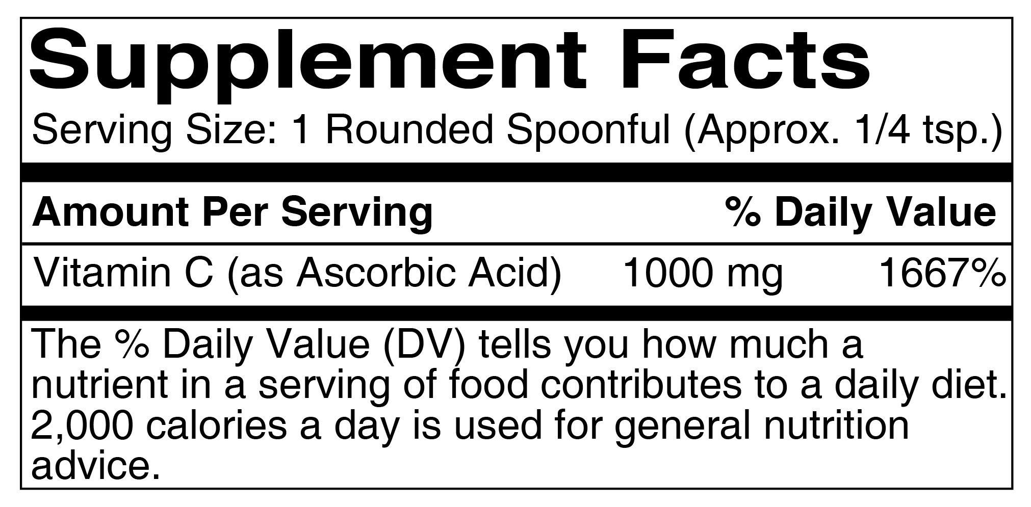 Vitamin C Powder (1 lb.) by Pure Organic Ingredients, Eco-Friendly Packaging, L-Ascorbic Acid, Antioxidant, Boost Immune System, DIY Skin Care