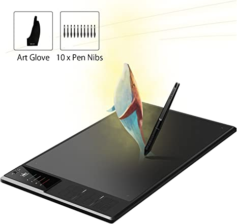 Sizes Large with 8 GB USB Memory HUION GIANO WH1409 Wireless Graphics Tablet
