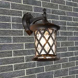 WHYA Creative Retro Victoria Metal Wall Lamp Glass Lantern ...
