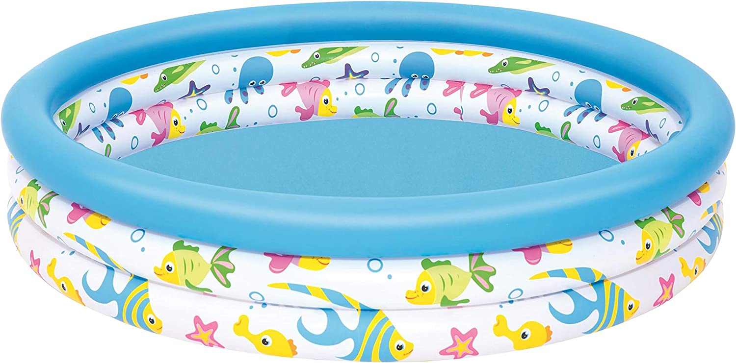 Color Baby-51009 Bestway. Piscina Infantil Coral 51009, Multicolor, 122 x 25 cm