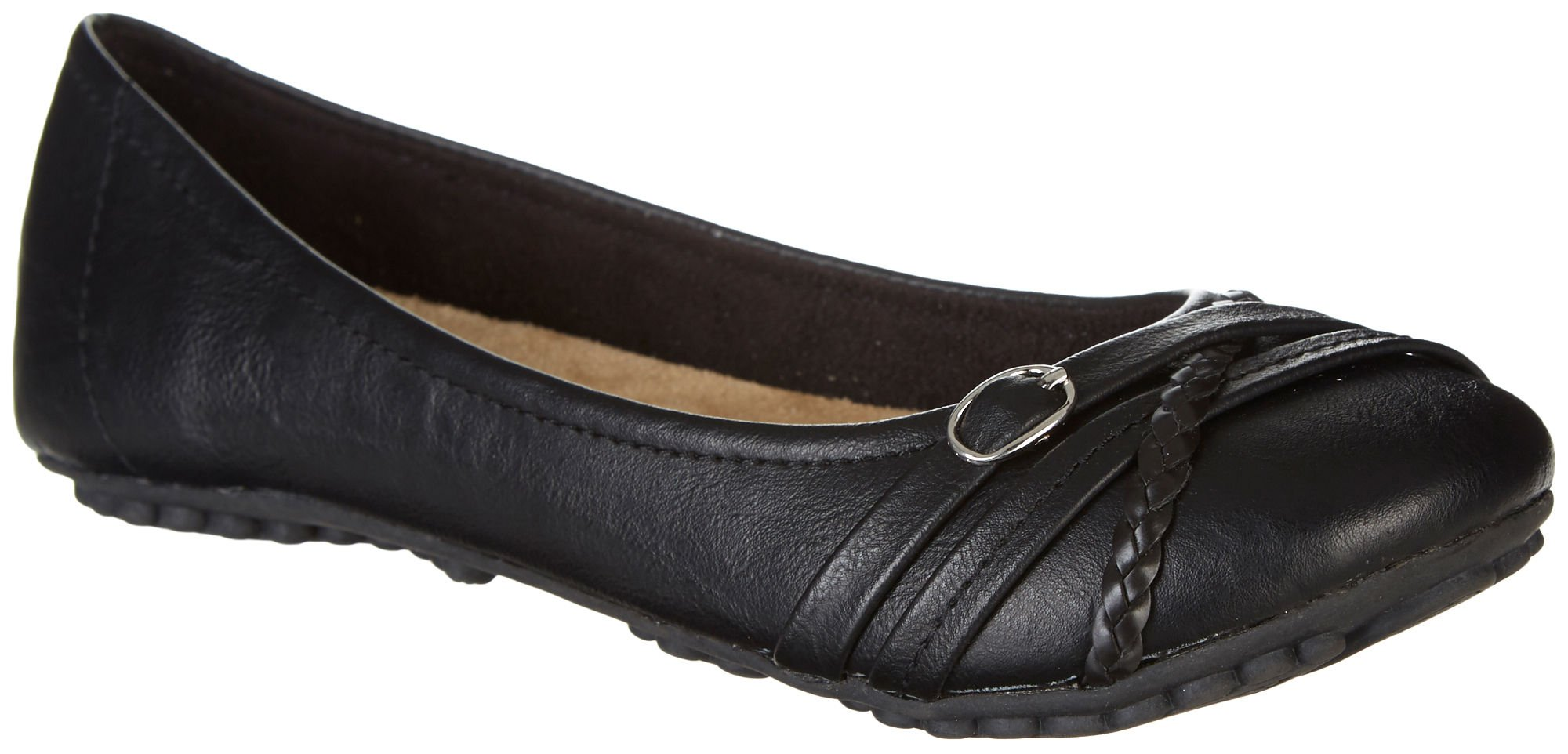 Jellypop Hector Womens Slip On Flats Black Distressed 10