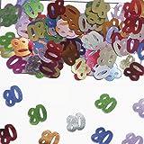 15g de confeti 80a Mesa de cumpleaños Decoración Aniversario