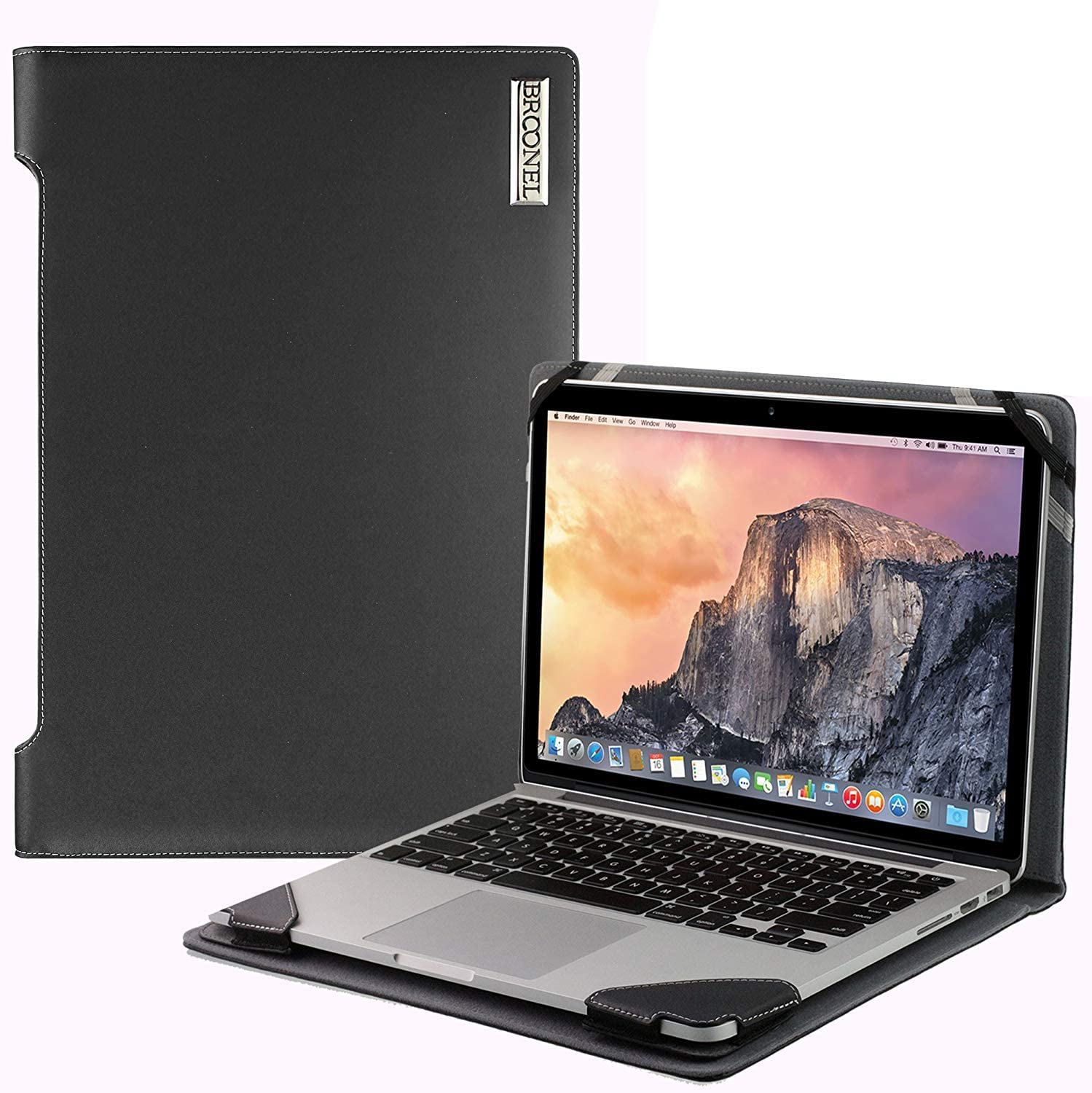 Broonel - Profile Series - Black Leather Laptop Case Compatible with The Jumper EZbook X3-13.3