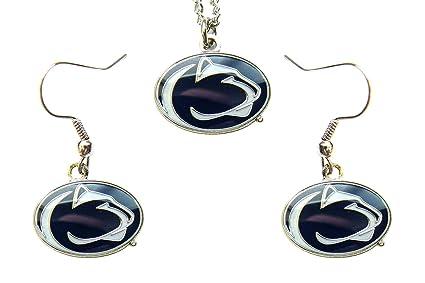 71a08a599 Amazon.com: NCAA Penn State Nittany Lions Logo Dangle Earrings and ...