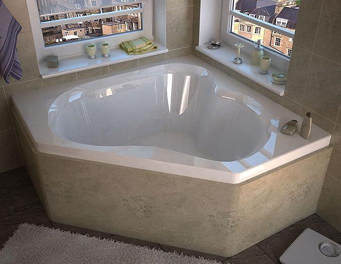 Spa World Venzi Vz6060c Tovila Corner Soaking Bathtub, 60x60, Center ...
