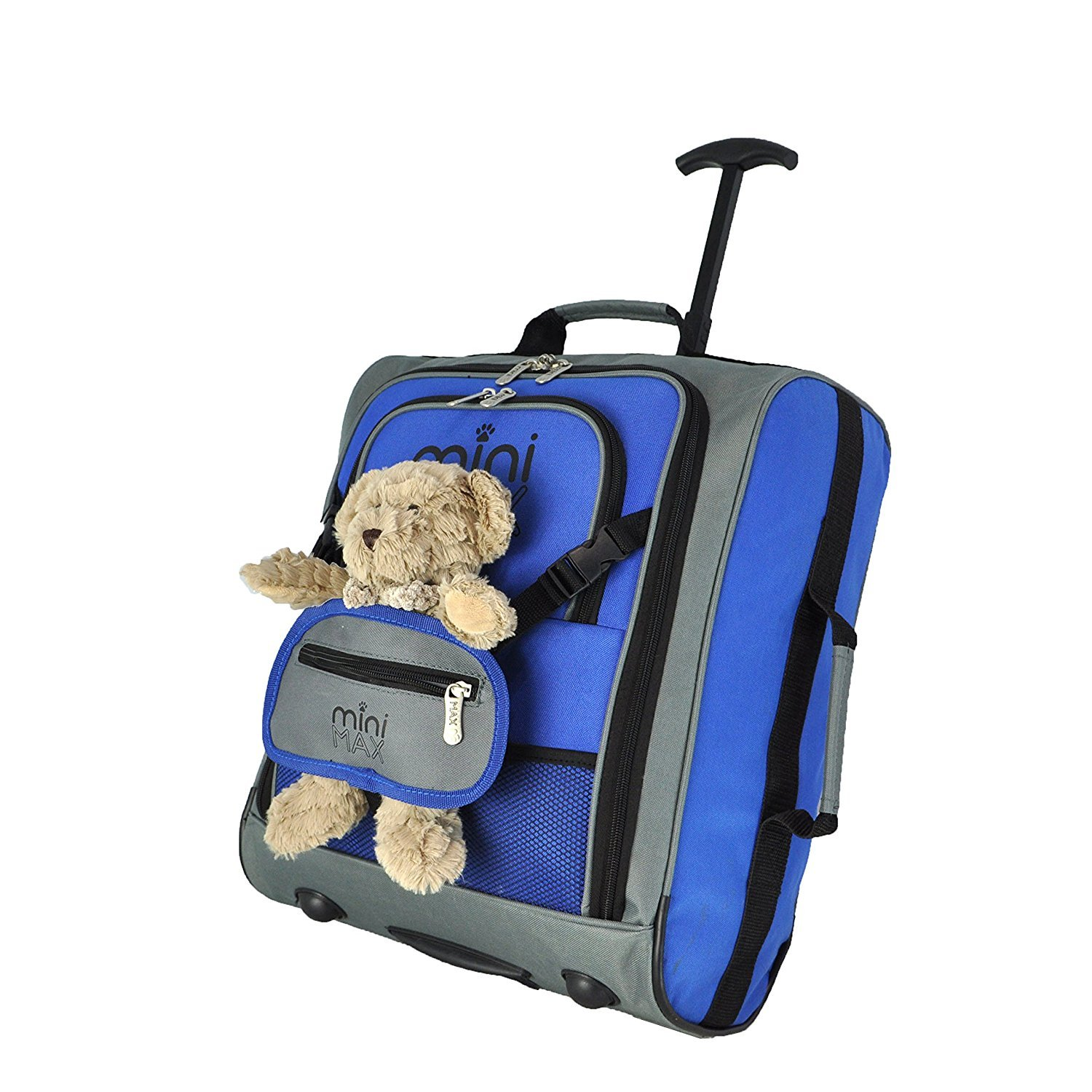 4a8018c01ba2 MiniMAX Childrens Kids Luggage Carry On Trolley Suitcase with Backpack and  Pouch for your Favourite Doll Action ...