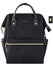 KROSER Laptop Backpack 15.6 Inch Water Repellent Wide Open with USB Port Black