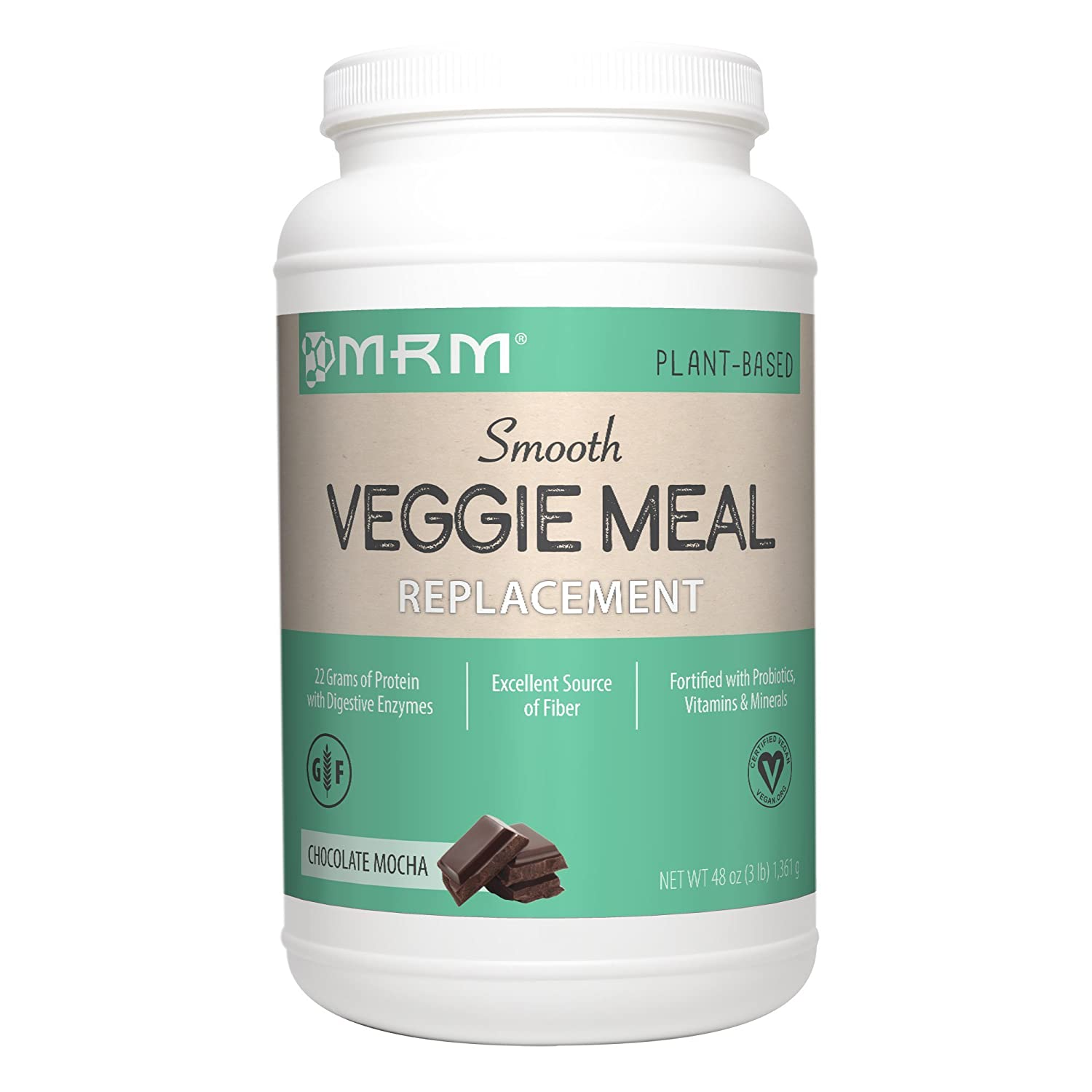 MRM Veggie Meal Replacement, Chocolate Mocha, 3 Pound by MRM ...