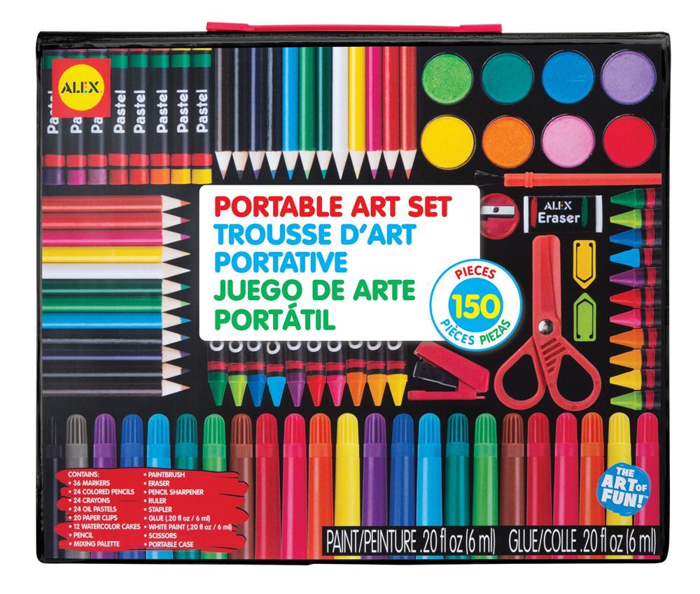 ALEX Toys - Artist Studio Portable Art Set with Carrying Case, 352 ...