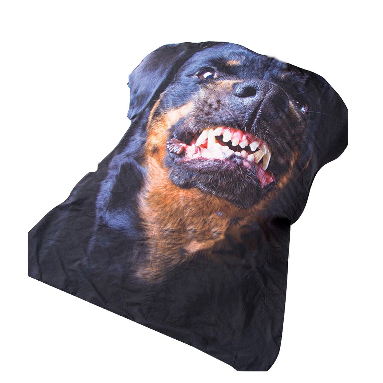 3d犬3dデジタル印刷不規則な形状Throw BlanketブランケットSummerキルト掛け布団 Single Suilt B07BH21X1Y  Single Suilt