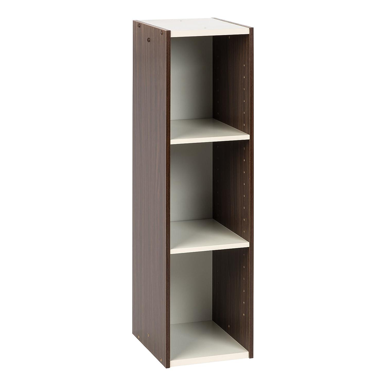 "IRIS USA, Inc. UB-9025 Space Saving Shelf with Adjustable Shelves, 10""W x 34""H, Inch, Walnut Brown"