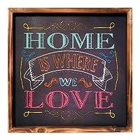 Placa Decorativa Quadro em Madeira Mart 4393 Home Is Where We Love