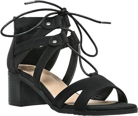 Gladiator Block Low Heel Shoes