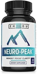 Zhou Neuro Peak Brain Support Supplement | Memory, Focus & Clarity