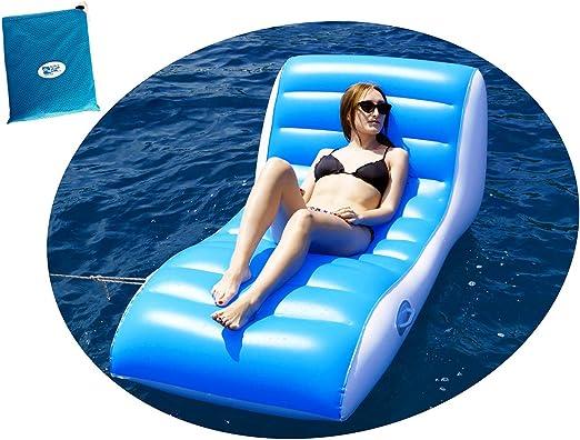 Intex Poltrona materassino gonfiabile 180x135cm per adulti mare piscina 58868