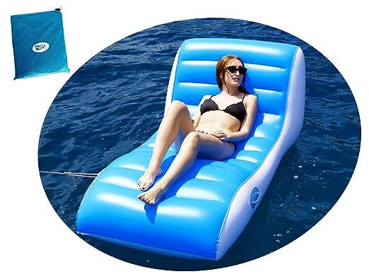 BEACHART - Sillón colchón Hinchable Relax con Bolsa 196 x 100 cm Playa Piscina Playa