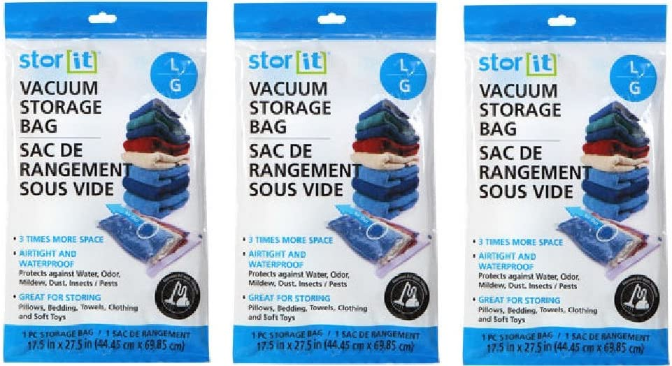 Stor-it Vacuum Storage Bag - Size Large (Pack of 3)