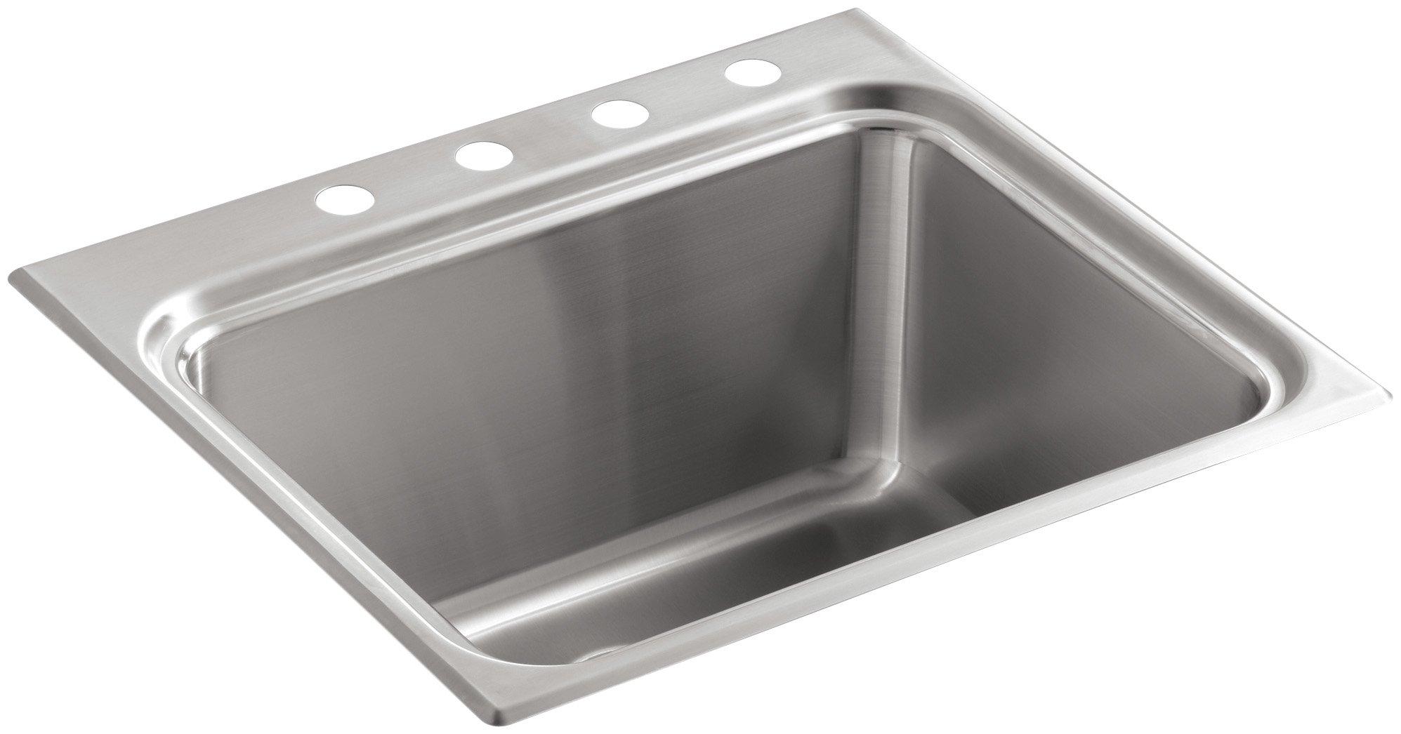 KOHLER K-3208-4-NA Ballad Self-Rimming Utility Sink