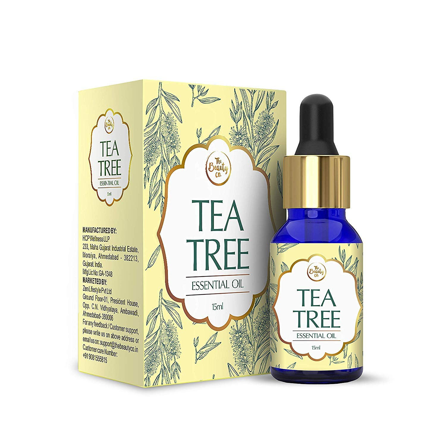 The Beauty Co  Tea Tree Oil for Acne and Blemish-Free Skin - 15ml