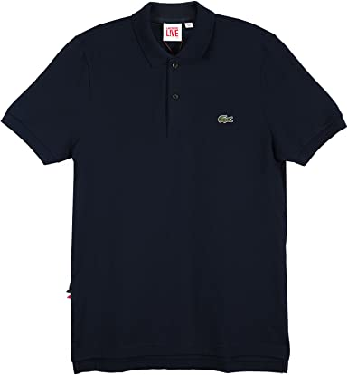 L!VE Short Sleeve Solid Pique Polo: Navy Blue (Size S / Eur4) at ...