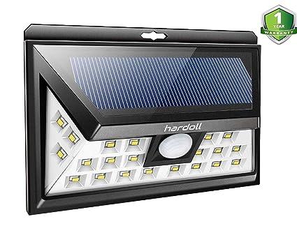 Hardoll 24 LED Solar Light for Home Garden Motion Sensor Outdoor Lamp(Black)