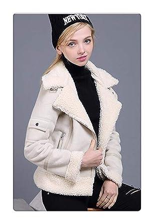 201b85ef135e Msanlixian New Faux Shearling Sheepskin Coats Women Thick Suede Jackets  Women Autumn Winter Lambs Wool Short
