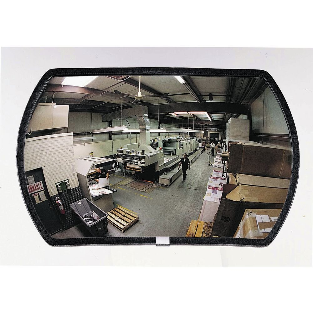 "See All RR1218 Round Rectangular Glass Indoor Convex Security Mirror, 18"" Length x 12"" Width (Pack of 1)"