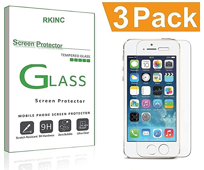 399d3507ce6581 3-Pack] Screen Protector Glass for iPhone 7 6S 6 [Lifetime Warranty ...