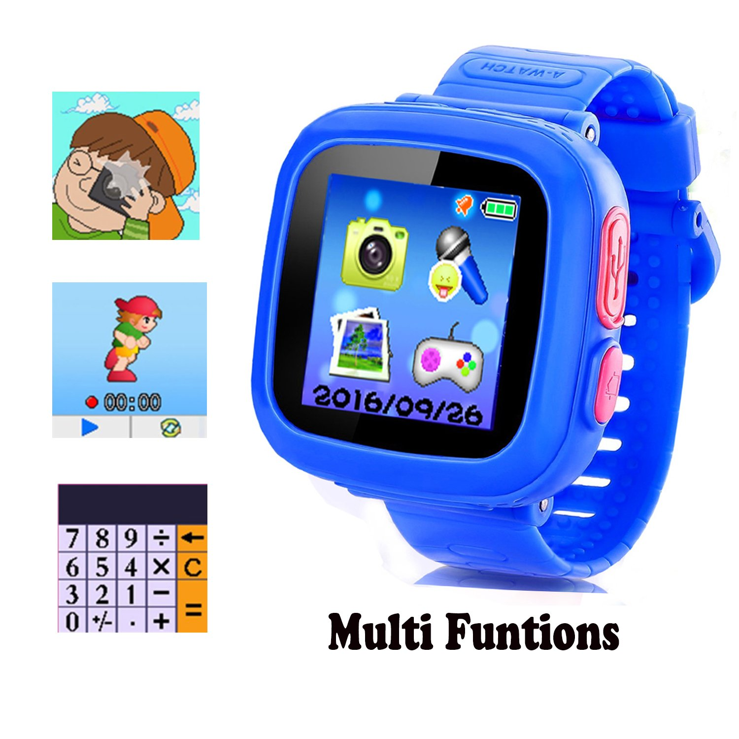 MIMLI Smart Watch for Kids Girls Boys,Smart Game Watch with Camera Touch Screen Pedometer,Kids Smart Watch Perfect Holiday Birthday Toys Gifts (Dark Blue) by MIMLI (Image #1)