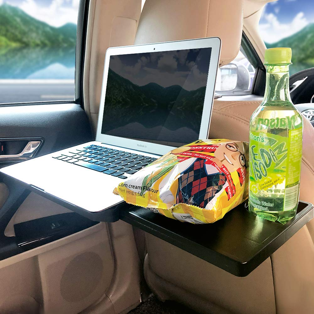 Ma Way Car Laptop Desk, Multi-Functional Tablet Holder Portable Lap Mount Notebook Table Car Seat Travel Tray Steering Wheel Desk by Ma Way