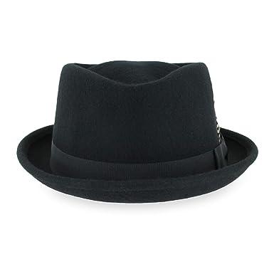32cdaedb Belfry Crushable Porkpie Fedora Hat Men's Vintage Style 100% Pure Wool in  Black Brown Grey