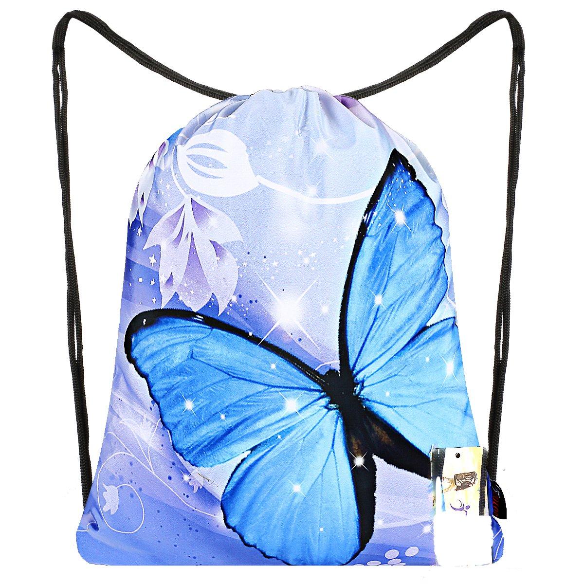 ICOLOR Drawstring Sackpack Backpack Gift Gym Bag Daypack for Women Teen Kids