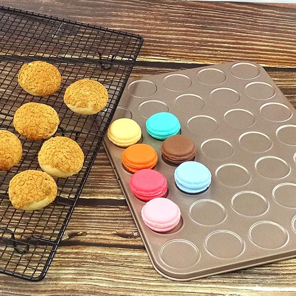 HOTEU 30 Cavidad Mini Muffin Cup Galletas de Acero al Carbono Cupcake Bakeware Pan Bandeja de jab/ón Molde DIY Molde de Bandeja Antiadherente para Hornear