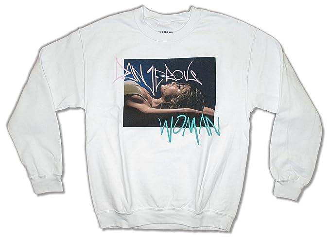 Ariana Grande Dangerous Woman Tour White Crew Neck Sweatshirt M