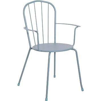 Amazonde Stapelstuhl Garten Stuhl Metall Grünblau 2er Set 57