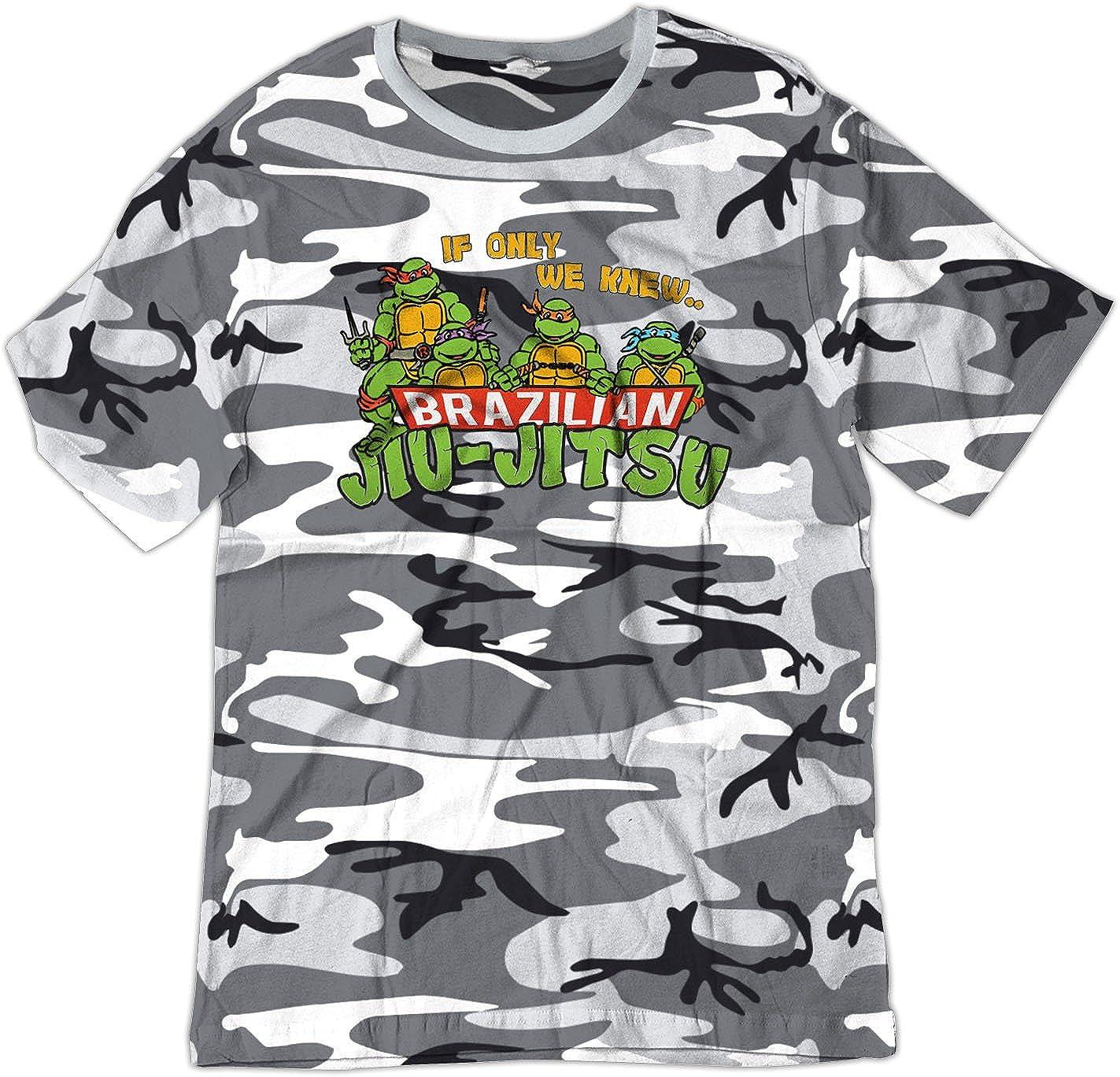 BSW YOUTH If Only We Knew Brazilian Jiu-Jitsu TMNT MMA Shirt 5181-1Y