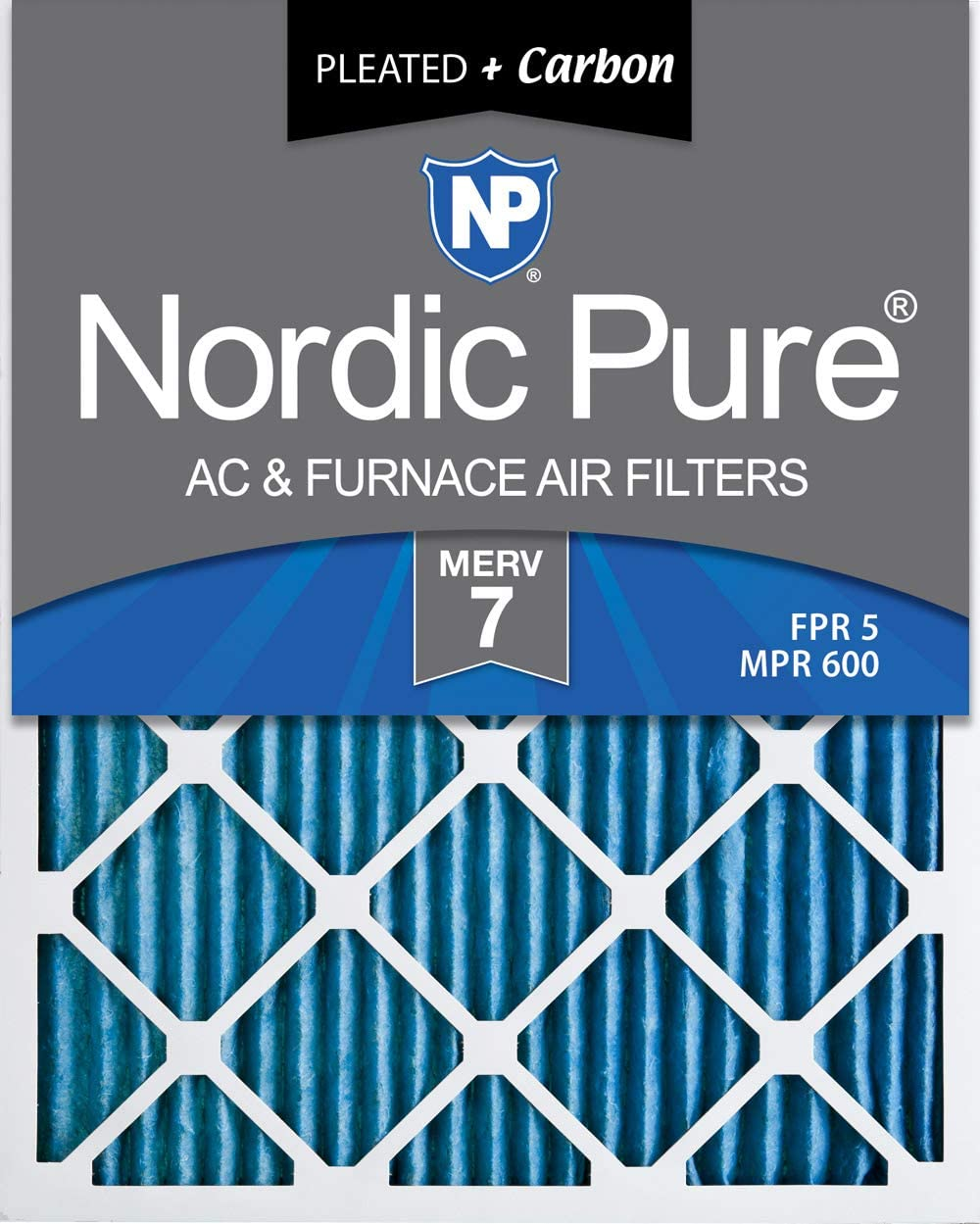 Nordic Pure 10x24x1 Exact MERV 10 Pleated AC Furnace Air Filters 2 Pack
