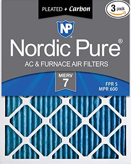 Nordic Pure 14x22x1 Exact MERV 13 Pleated AC Furnace Air Filters 3 Pack