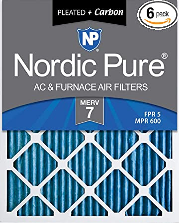 Nordic Pure 12x18x1 MERV 11 Pleated AC Furnace Air Filters 3 Pack
