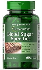 Puritan's Pride Blood Sugar Specifics with Cinnamon & Chromium-60 Capsules