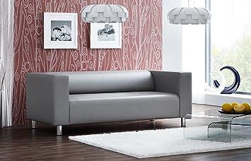 Sofa, Couch, 3-Sitzer, Polstersofa, Kunstleder ...