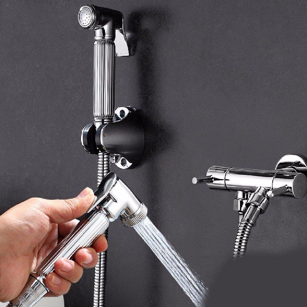 WAWZJ Bathroom Shower Set All Copper Toilet Corner Valve Toilet Spray Gun Single Cold Wash Washer Closestool Companion