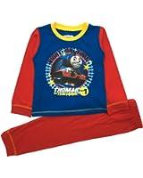 Kid Boys Official Thomas The Tank Engine Trains Long Pyjamas PJ'S Set 2 Piece Long Sleeve Long Pants Size 1 - 4 Years