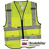 Salzmann 3M Multi Pocket Safety Vest, Highly Breathable Mesh Vest Meets ANSI/ISEA107
