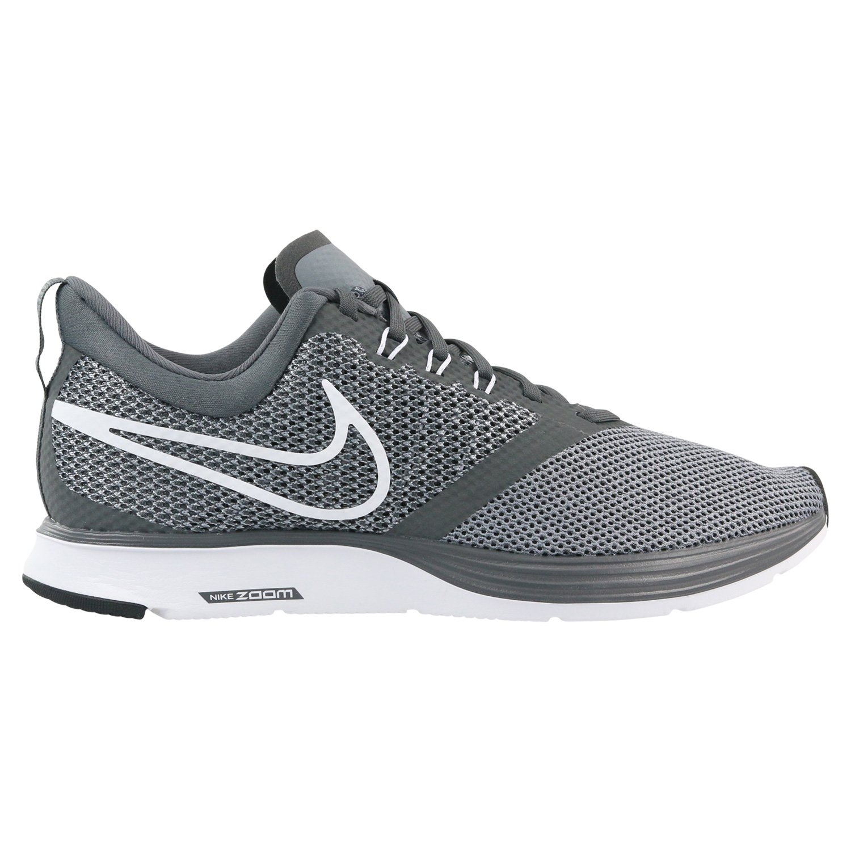 on sale a351a a7577 Galleon - Nike Men s Zoom Strike Dark Grey White - Stealth Black Ankle-High  Mesh Running Shoe 12M
