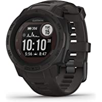 Garmin Instinct Solar, Rugged Outdoor Watch with GPS, Features GLONASS and Galileo, Heart Rate Monitoring, 3-axis…