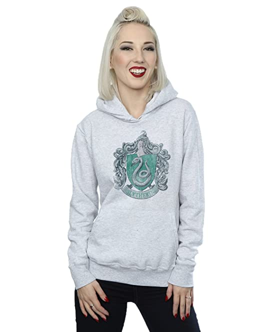 Harry Potter Mujer Slytherin Distressed Crest Capucha